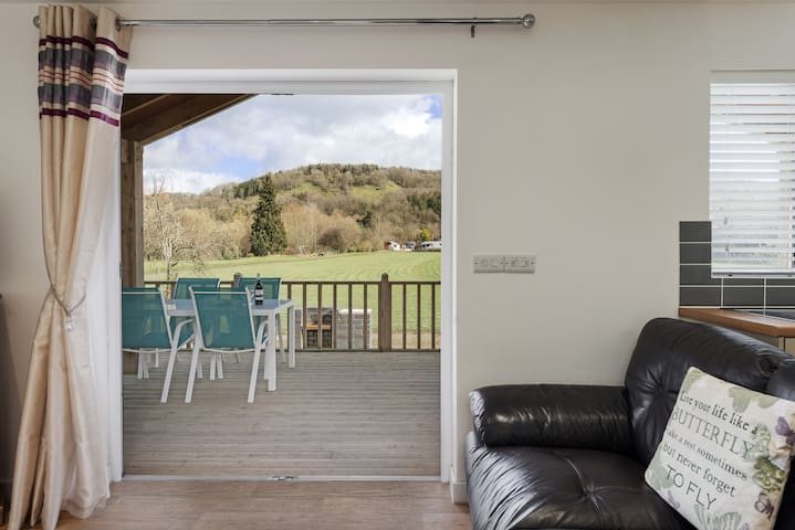 Access to the terrace from the open plan living area