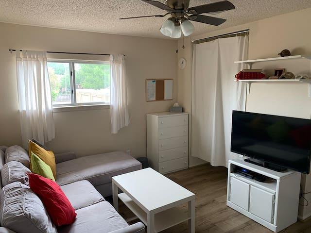 Covid-19 safe private room w sleeper sofa