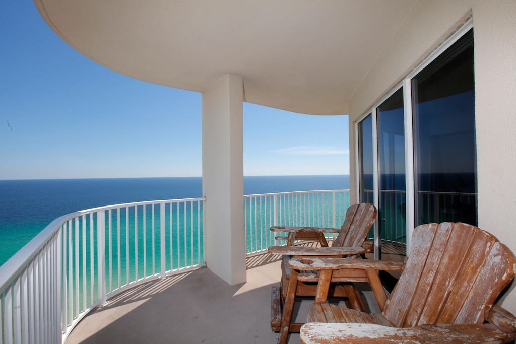 Balcony with Incredible Beach and Gulf Views