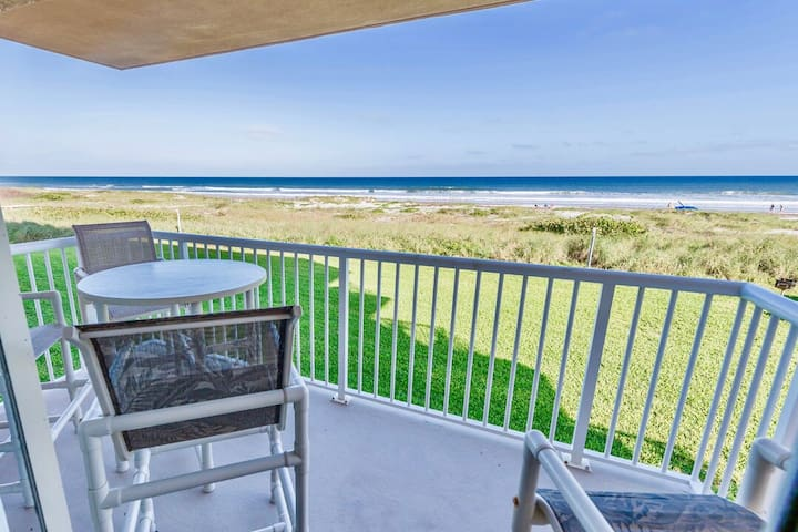 ** DIRECT oceanfront with A+ views - Large 3 BR with 2 ocean facing balconies **