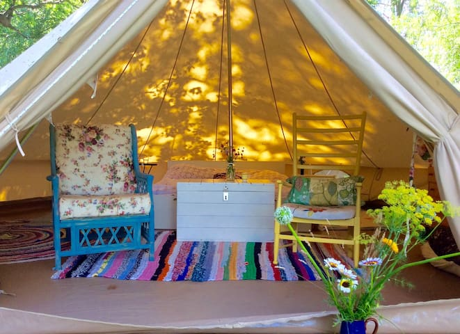 Our gorgeous cosy tent.