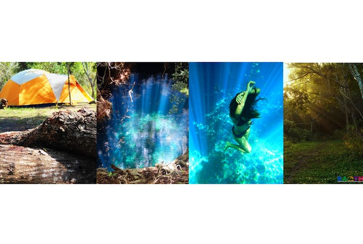 Camping - Private Cenote, Ecotours, Jungle, Ruins