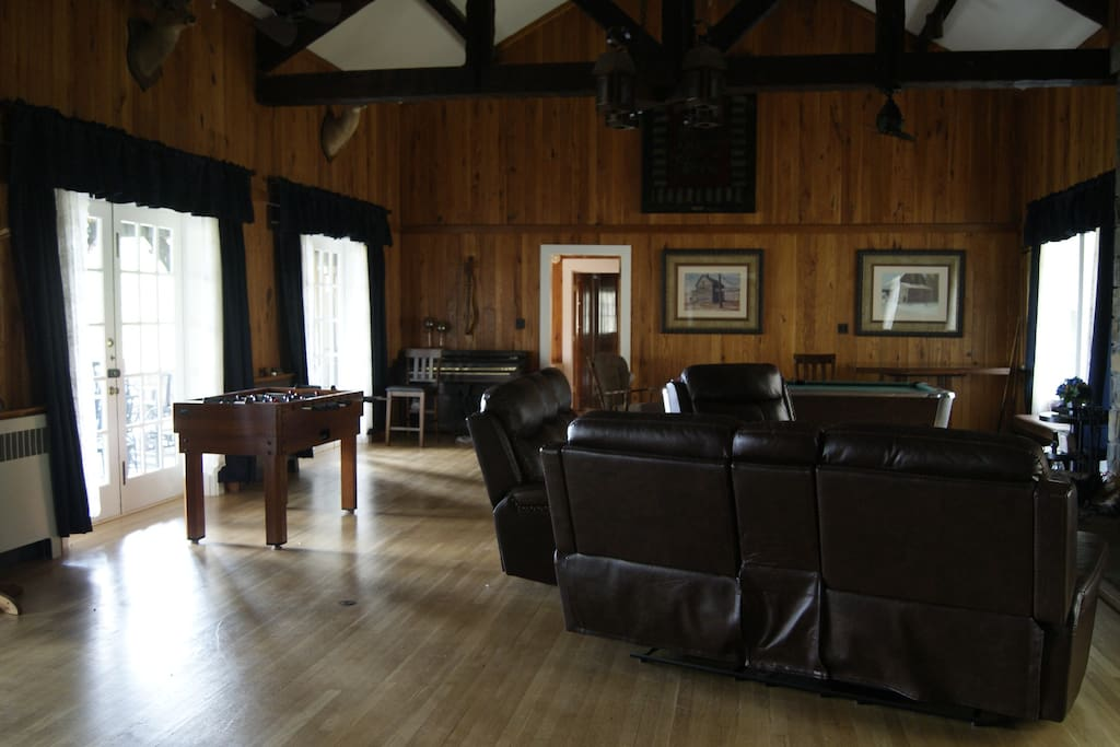 Grand Salon with TV, Pool Table and Fooseball