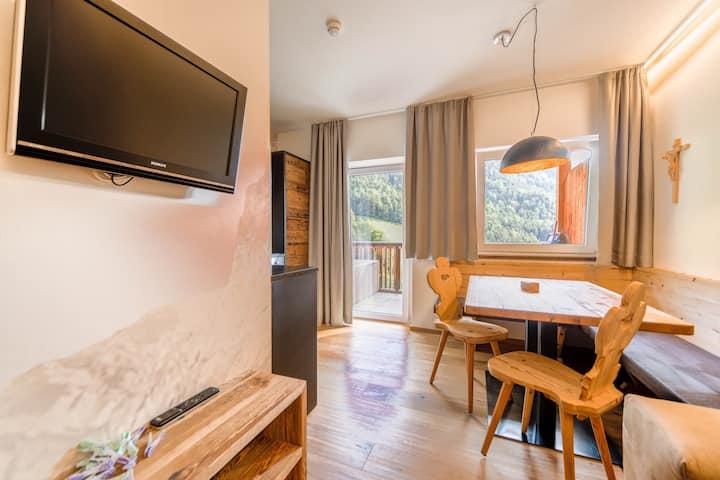 "Beautiful Apartment ""Sonnleiten Dolomiten Residence - Apt. 4 Sonnenadler"" with Mountain View, Wi-Fi, Pool, Balcony, Terrace & Garden; Parking Available"