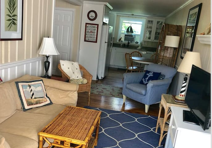 Beach block, dog-friendly Dewey vacation home!