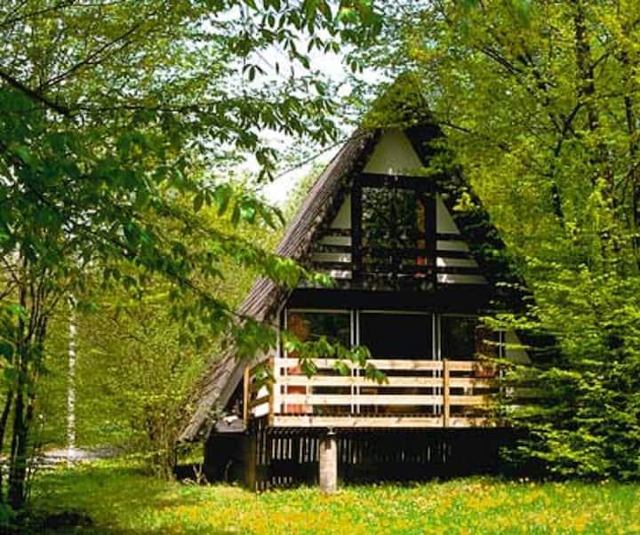 Feriendorf Sulzfeld (Sulzfeld), Ferienhaus Amsel mit Terrasse