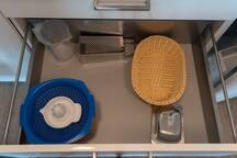 Weitere Utensilien für die Küche.