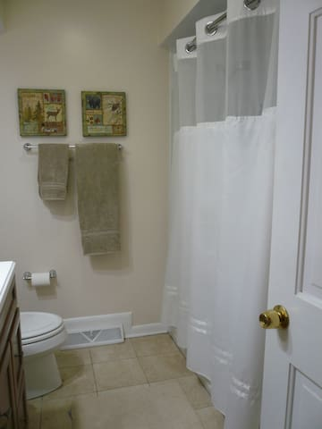 Hall bath, private for guests