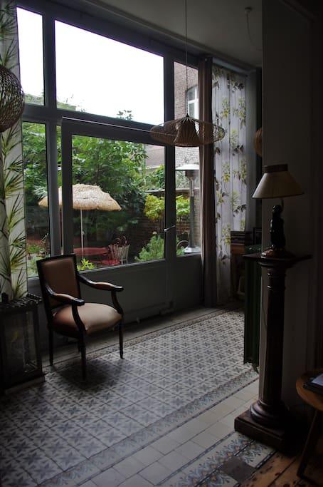 Verrière - vue sur le jardin
