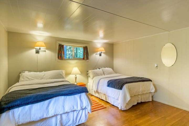 Two double beds in second bedroom
