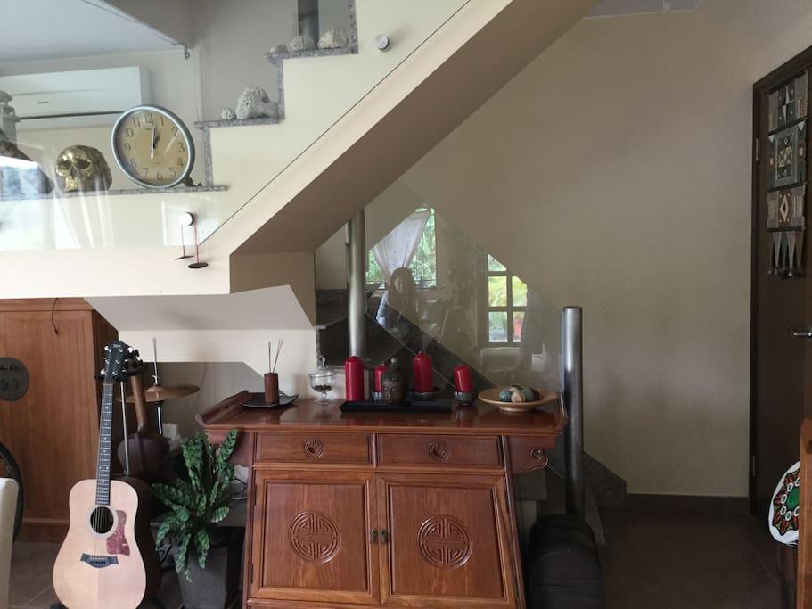 Choose the upstairs room?