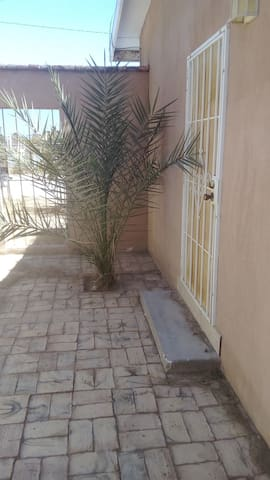 private patio entrance