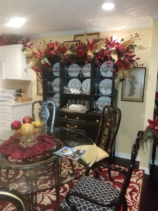 Dining area for Christmas