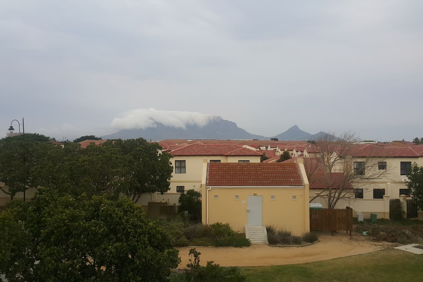 Beautiful view of Table Mountain from the balcony.