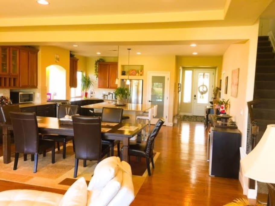 Dining Room / Kitchen view