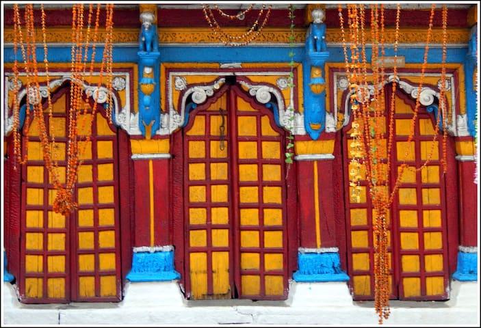 Temple door at Ukhimath