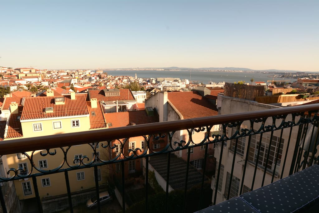 View over Lisbon and river - only enjoy.
