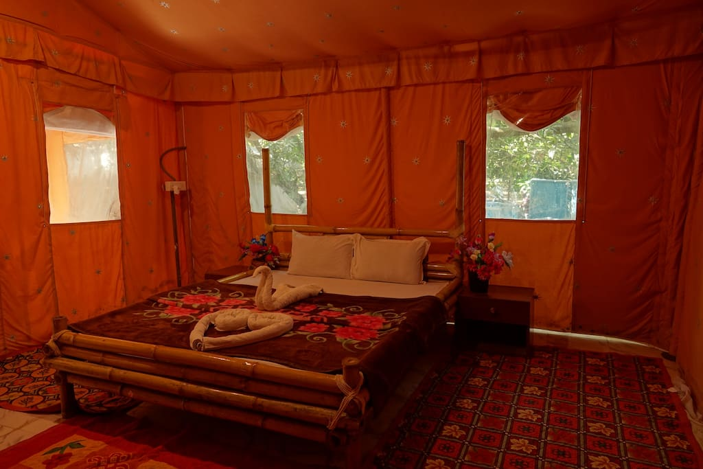 A Beautiful tent for your fabulous stay make your holiday unforgettable.