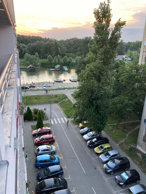 Riverside apartment with nice view, city, fully eq