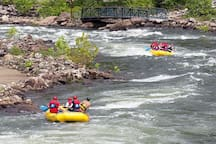 White water rafting available  on several different rivers - all levels