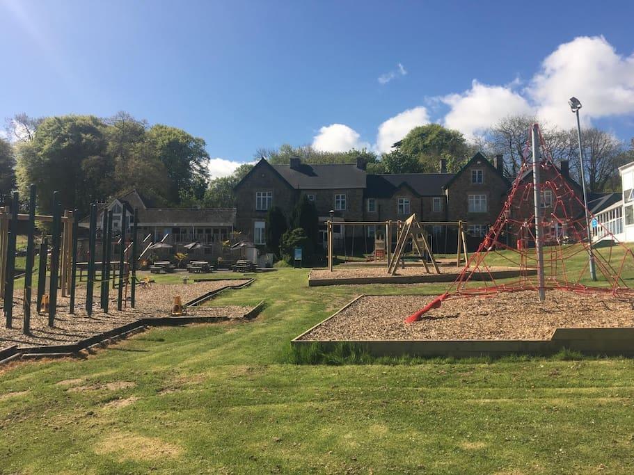 Children's adventure play area