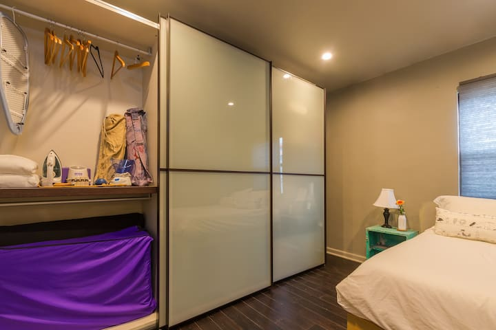 2nd bedroom offers large closet. Plenty of room for everything.
