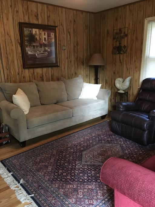 Pictured- Left side of Den: Big Sofa for relaxing and sleeping