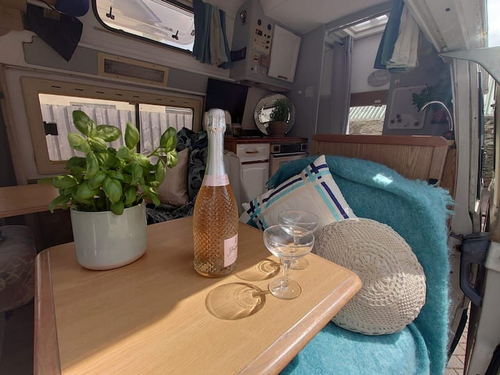 Vintage Campervan. Price includes campsite fee