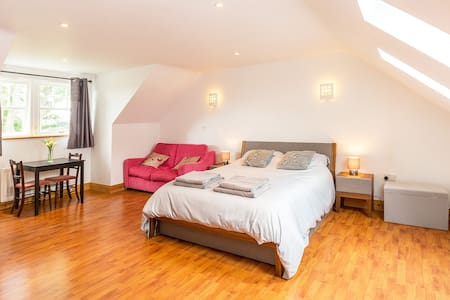 A beautiful spacious room with stunning views