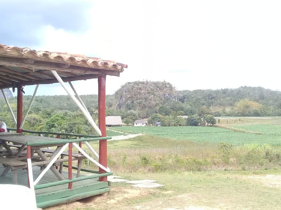 Vista Panoramica en el ranchon de la Familia