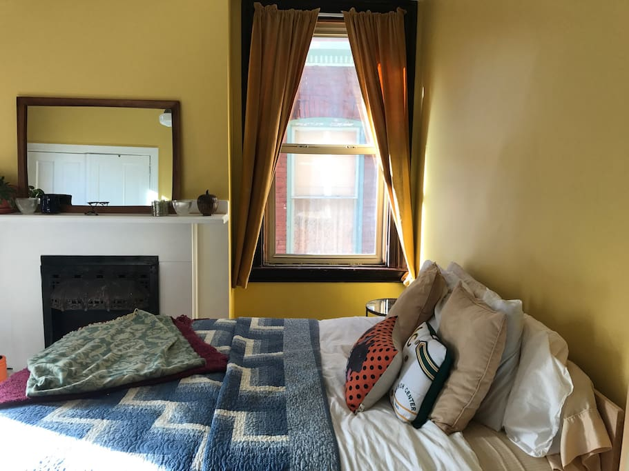 The queen-size bed and many different pillow options mean a good night sleep for you.