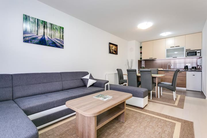 Moving apartment with 2bdr and private parking