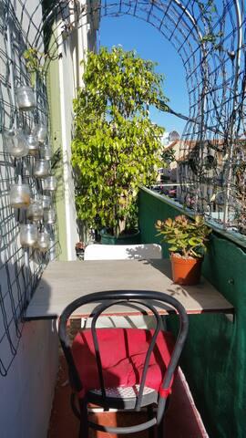 Balcon coté salon