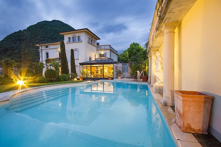 Sumptuous villa with pool and views over Lake Como - Veglio - Villa
