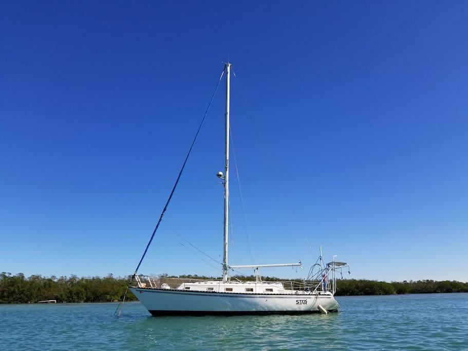 """""""star"""" 37 foot sailing vessel"""