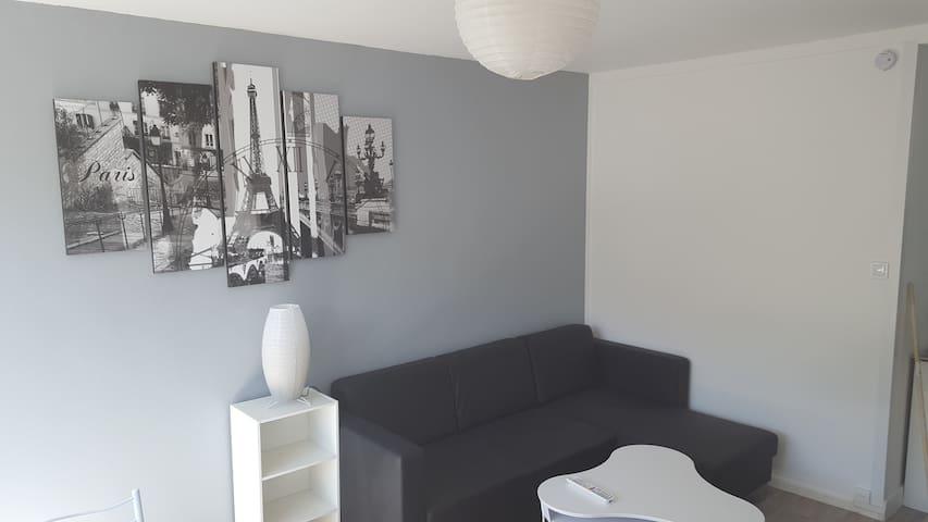 Chambre spacieuse et meublée dans appartement cosy