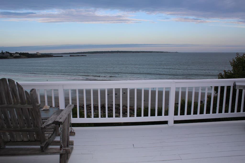 View toward the east from the front deck