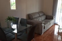 Lounge with new double sofa bed