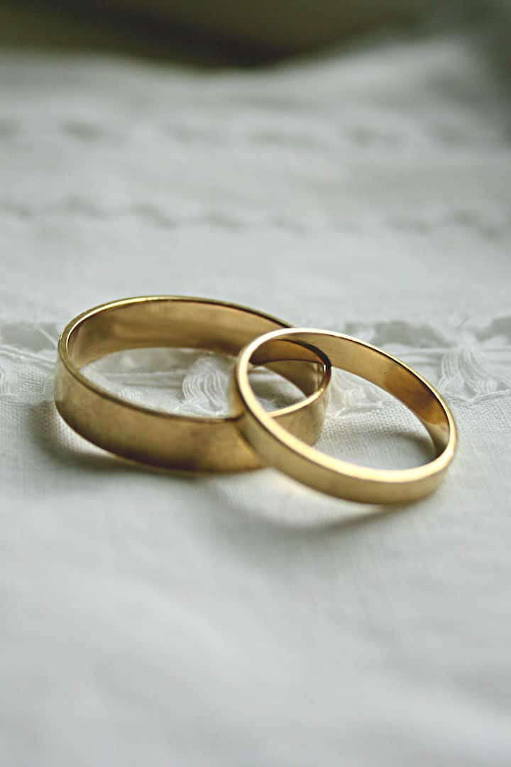 Wedding rings. Made By the happy couple