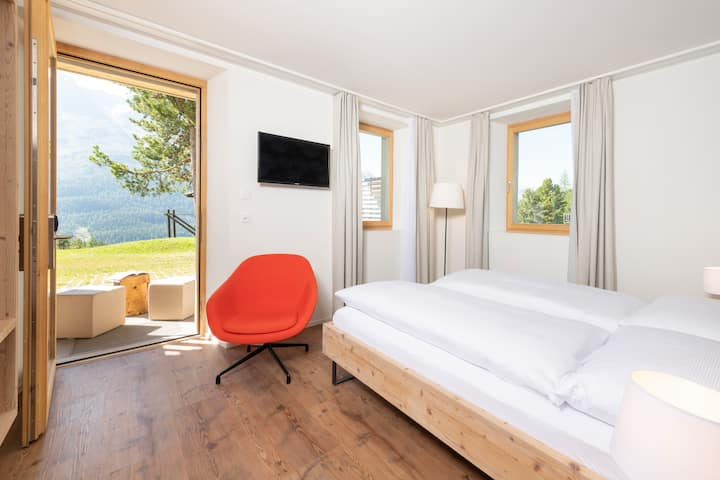 modernes Studio im Berghotel Randolins, St. Moritz