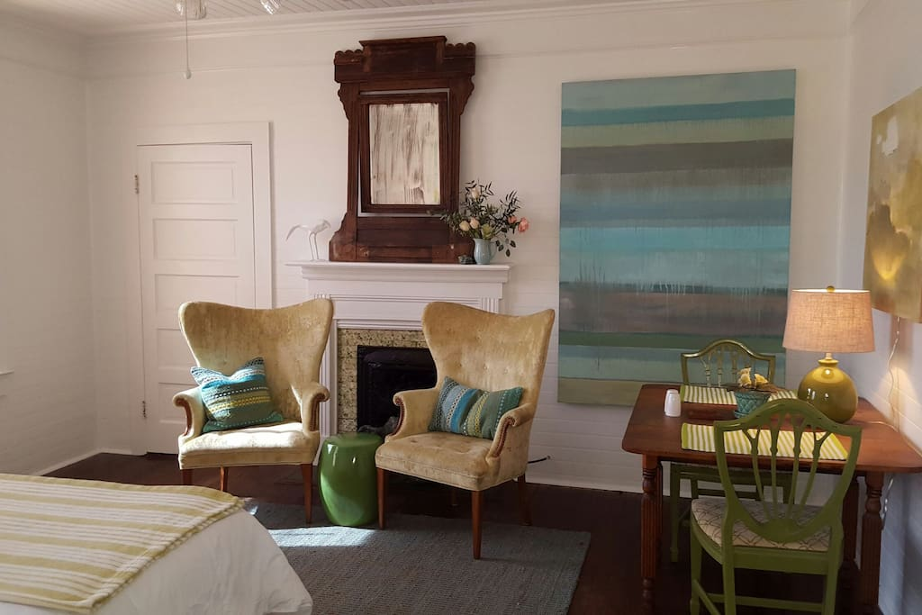 Original art and unique furnishings in every room.