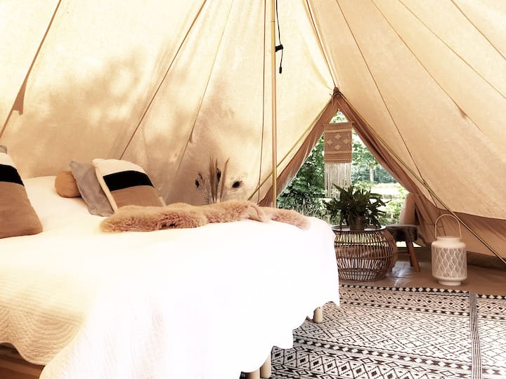 Privé Glamping Tribe tent deluxe