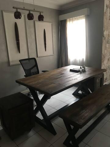 Spacious dining area.