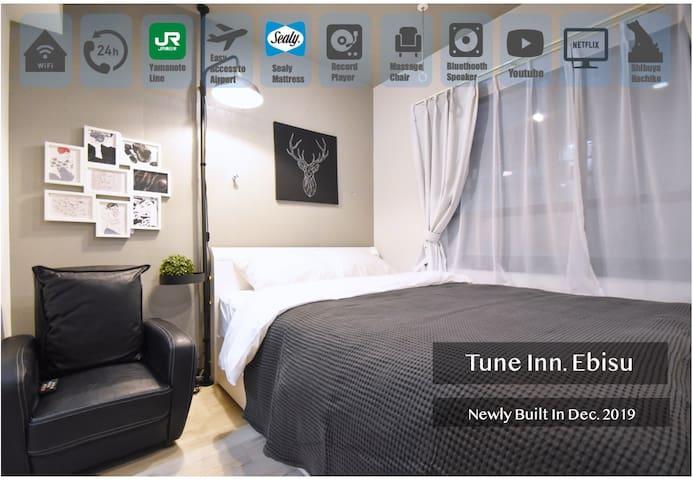 Tune Inn Ebisu☆NewlyBuilt Hotel/Sealy Bed/Shibuya1