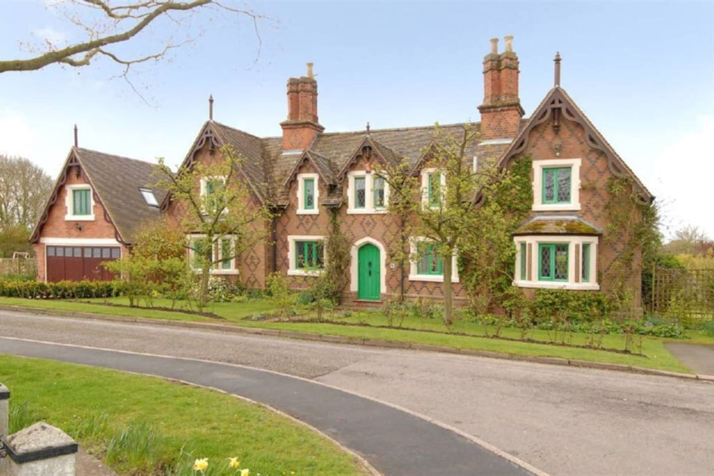 Our lovely home, originally 4 separate Alms houses (workers cottages) & now one family home, the Annexe sits on the left hand side of this picture above the detached garage, with its own separate side entrance.