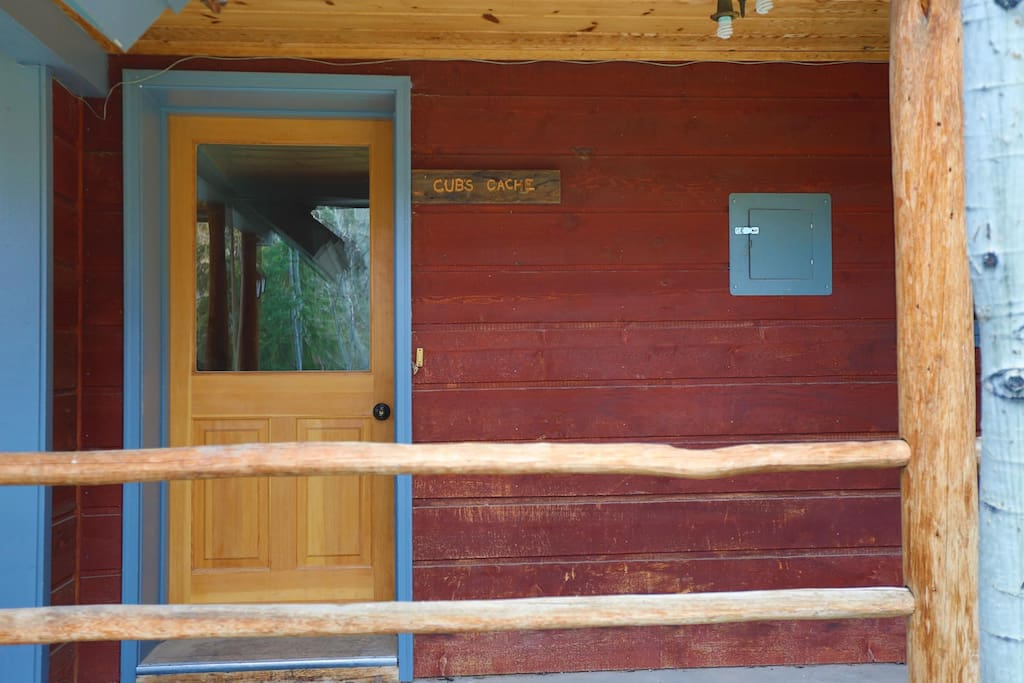 Main entrance to cabin.