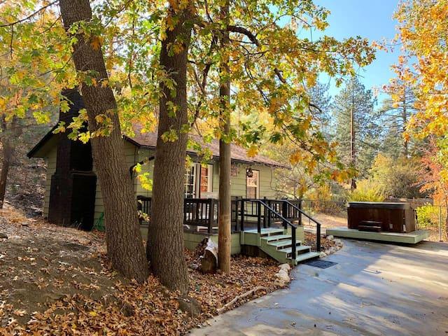 The Oak Leaf Cabin Hideaway.