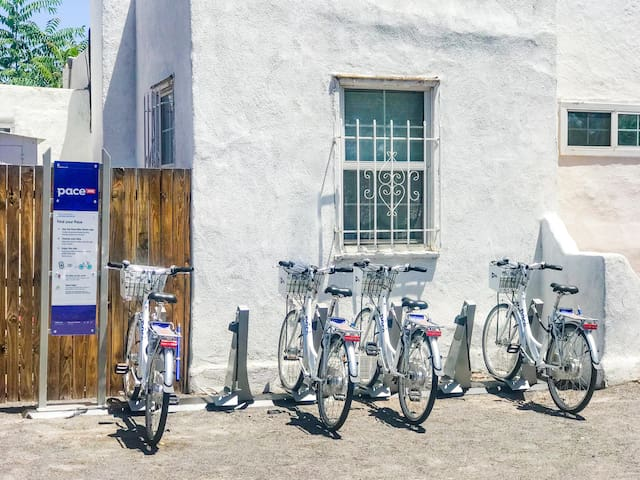 We are proud to offer Pace bike rental services on the property (separate fees apply) Download the PACE app to get started.