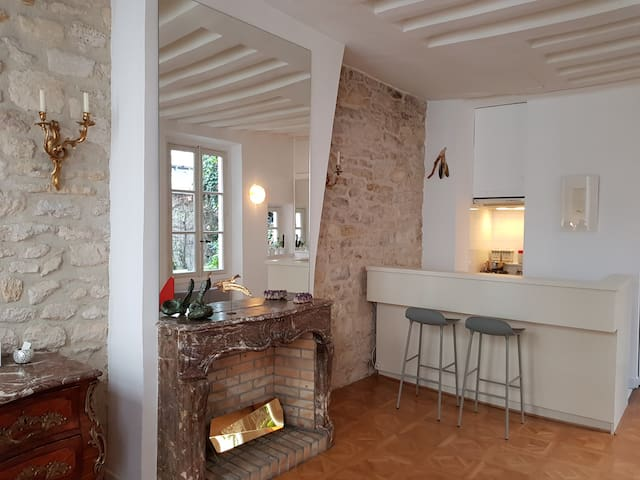 Bright apartment in Le Marais 17th century maison