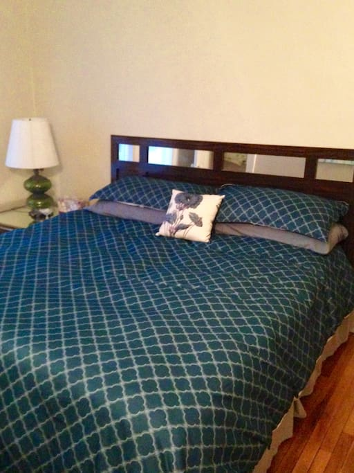 Blue Room- contains King Sized Bed, vintage dresser and chair
